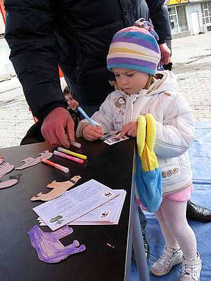 Raising awareness of climate change from a very young age at the Climate Tour in Ukraine  © WWF DCP Katya Kurakina