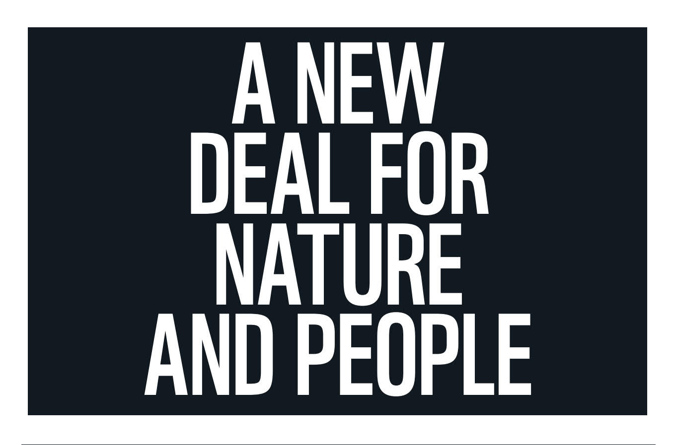 New Deal for Nature and People Brochure cover